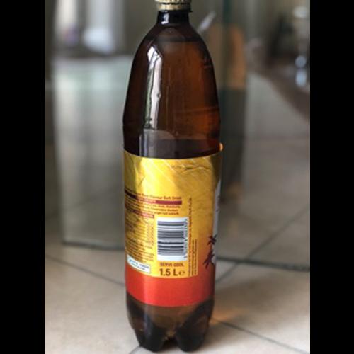 Drinks bottle filled with water as a foam roller
