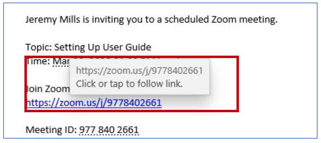 Zoom User Guide - Link