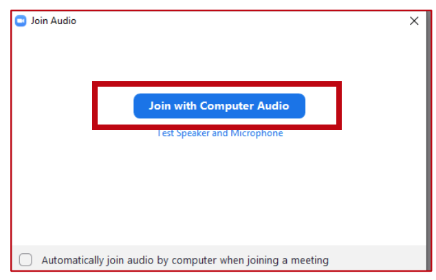 User Guide - Join with Computer Audio