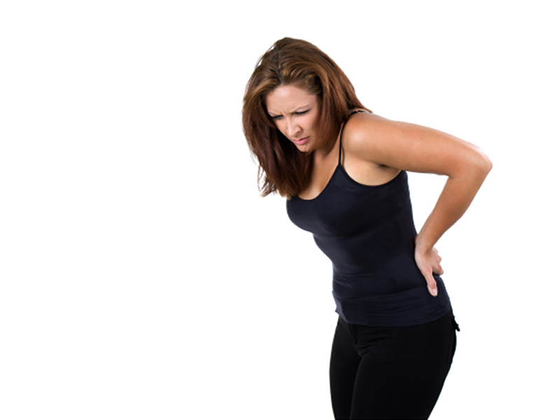 Woman Suffering from Sciatica